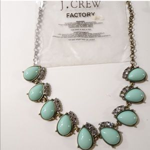 — J.Crew — Angelica Teal Stone Fan Necklace